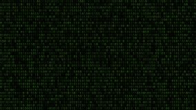 Abstract background of ones and zeros. Abstract background of zeros ad ones in green colors Royalty Free Stock Photo