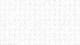 Abstract background of ones and zeros. Abstract light background of zeros ad ones in white and gray colors stock illustration