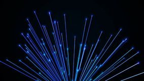 Abstract background with optical fibers. 3d rendering.  Stock Photography