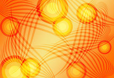 Abstract background orange. Orange abstract background,waves and circles stock illustration
