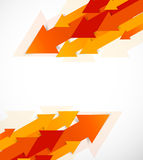Abstract background with orange arrows Stock Photography