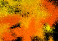 Abstract background in orange and black color. Abstract background in orange and black color - autumn night and Halloween impressions - cubism style stock illustration