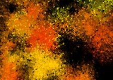 Abstract background in orange and black color. Abstract background in orange and black color - autumn night and Halloween impressions - cubism style vector illustration