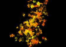 Abstract background in orange and black color. Abstract background in orange and black color - autumn night and Halloween impressions - cubism style royalty free illustration