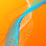 Abstract background with orange and blue lines. Abstract vector background with orange and blue blended lines Stock Photography