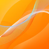 Abstract background with orange and blue lines. Abstract vector background with orange and blue blended lines Stock Photos