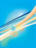 Abstract background with orange and blue lines. Abstract background with orange and cyan lines stock illustration
