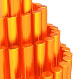 Abstract background of orange cylinders Royalty Free Stock Photography