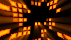 Abstract background with orange disco room. 3d rendering. Backdrop Vector Illustration