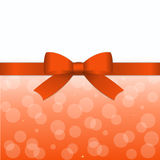 Abstract background. With orange gift tape and  bow Stock Photos