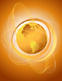 Abstract background with orange globe. Abstract background with orange world stock illustration