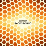 Abstract background with orange hexagons elements. Vector illustration Stock Photos