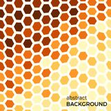 Abstract background with orange hexagons elements. Vector illustration royalty free illustration