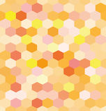 Abstract background orange hexagons. Honeycomb. Vector, seamless repeating pattern, mosaic Royalty Free Stock Photos