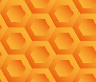 Abstract background orange hexagons. Honeycomb. Vector, seamless repeating pattern, mosaic Stock Images