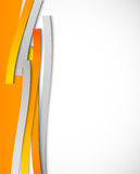Abstract background with orange lines. This is file of EPS10 format Royalty Free Stock Images
