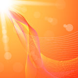 Abstract background with orange lines and flares Royalty Free Stock Photography