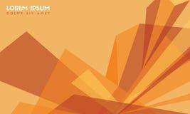 Abstract background orange modern wallpaper. Vector illustration Stock Image