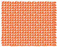 Abstract background with orange pieces. And white background vector illustration