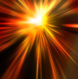 Abstract background in orange red and yellow tones. Abstract background in orange, red, yellow and brown tones that looks like sun shining or explosion Royalty Free Stock Photography