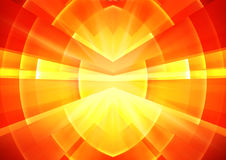 Abstract background. Orange shine Royalty Free Stock Images