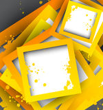 Abstract background. With orange squares Stock Photography
