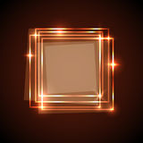 Abstract background with orange squares banner Stock Photos