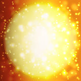 Abstract background with orange sun rays. Summer background with a magnificent sun burst with lens flare Stock Image