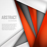 Abstract background of orange, white and black. Origami paper. Vector illustration. EPS 10 Stock Photo
