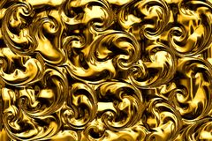 Abstract background of ornate gold foil. Stock Images
