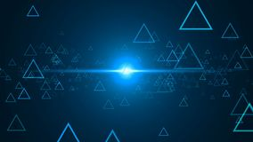 Abstract background with outline triangles. 3d rendering Royalty Free Stock Photo