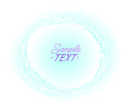 Abstract background of ovals surrounded by lines.Vector illustration.Space for text. Blue on white Stock Photography