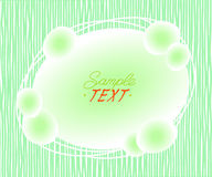 Abstract background of ovals surrounded by lines.Vector illustration.Space for text. Green on white Royalty Free Stock Image
