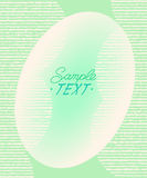 Abstract background of ovals surrounded by lines.Vector illustration.Space for text. Green on white Stock Photos