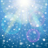 Abstract background with overhead lighting and sno Stock Photo