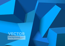 Abstract background with overlapping blue cubes Stock Images