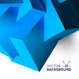 Abstract background with overlapping blue cubes. Abstract background with realistic 3D overlapping blue cubes Stock Photos