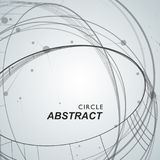 Abstract background with overlapping circles and dots.  royalty free illustration