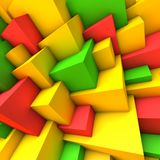 Abstract background with colorful cubes. Abstract background with overlapping colorful cubes vector illustration