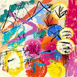 Abstract background,. With paint strokes and splashes stock illustration