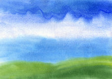 Abstract background painted in watercolor. Dynamic, abstract background painted with watercolors on paper Royalty Free Stock Photo