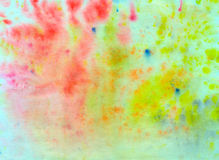 Abstract background painted in watercolor. Dynamic, abstract background painted with watercolors on paper Stock Photos