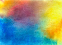 Abstract background painted in watercolor. Dynamic, abstract background painted with watercolors on paper stock illustration