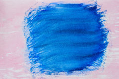 Abstract background painting, hand drawn in blue shades color. Texture of watercolor paper in blur style Stock Images