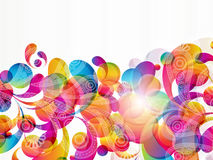 Abstract background with paisley drops. Illustration for your design stock illustration
