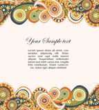 Abstract background with paisley Stock Photos