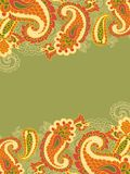 Abstract background with paisley Royalty Free Stock Photos