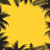 Abstract background with palm tree leaves. Vector. Abstract background with palm tree leaves. Vector vector illustration