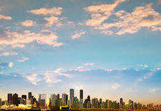 Abstract background with panorama of vancouver Stock Image