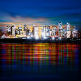 Abstract background with panorama of vancouver Stock Photography